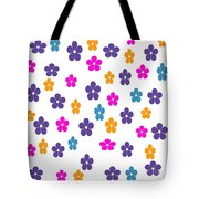 Candy Flower Bright Tote Bag
