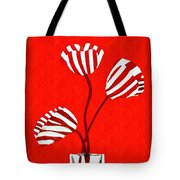 Candy Stripe Tulips Tote Bag