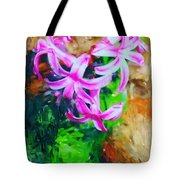 Candy Striped Hyacinth  Tote Bag