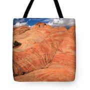 Candycane Landscape Tote Bag