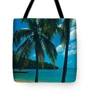 Caneel Bay Palms Tote Bag by Kathy Yates