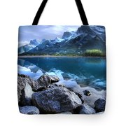 Canmore Reservoir Under A Setting Sun Tote Bag