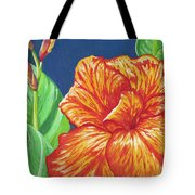 Canna Flower Tote Bag by Adam Johnson