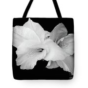 Canna Lily In Black And White Tote Bag