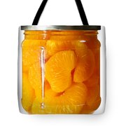 Canned Mandarin Oranges In Glass Jar Tote Bag