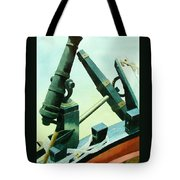 Cannon And Anchor Tote Bag