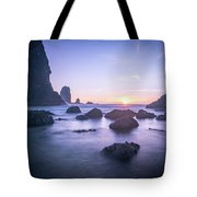Cannon Beach Rocks Sunset Tote Bag