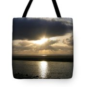 Cannon Beach Sunburst Tote Bag