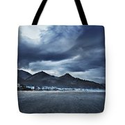 Cannon Beach Under Clouds Tote Bag