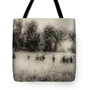 Cannon Fire At Gettysburg  Tote Bag