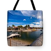 Cannon Over Water Tote Bag
