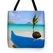 Canoe And Coconut Tote Bag