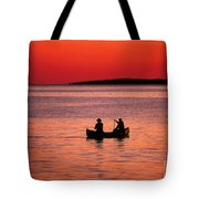 Canoe Fishing Tote Bag