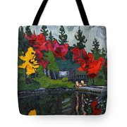 Canoe Lake Chairs Tote Bag by Phil Chadwick