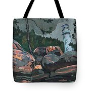Canoe Lake Light Tote Bag