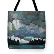 Canoe Lake Rain Tote Bag