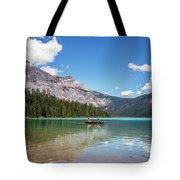 Canoe On Emerald Lake British Columbia Tote Bag