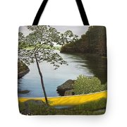 Canoe On The Bay Tote Bag