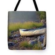 Canoe On The Rocks Tote Bag
