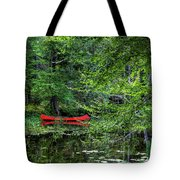 Canoe On The Shore Tote Bag
