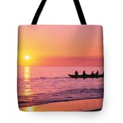 Canoe Paddlers Tote Bag