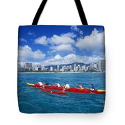 Canoe Race Tote Bag