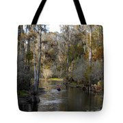Canoeing In Florida Tote Bag
