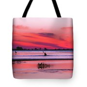 Canoeing On Color Tote Bag