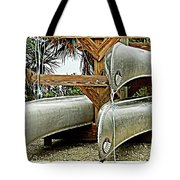 Canoes At Canaveral National Seashore Tote Bag