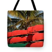 Canoe's At Flamingo Tote Bag
