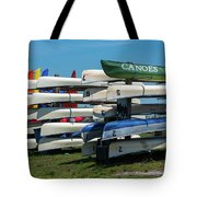 Canoes Cascaded Tote Bag
