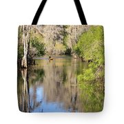 Canoing On Hillsborough River Tote Bag