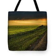 Canola And The Road Ahead Tote Bag