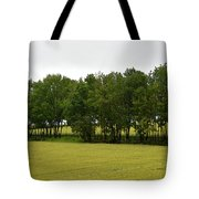 Canola Around The Trees  Tote Bag