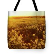 Canola Sunburst Tote Bag