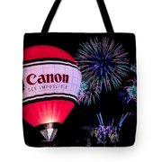 Canon - See Impossible - Hot Air Balloon With Fireworks Tote Bag