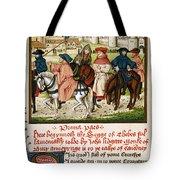 Canterbury Pilgrims Tote Bag