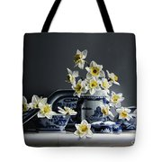 Canton With Daffodils Tote Bag