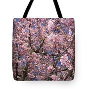 Canvas Of Pink Blossoms Tote Bag