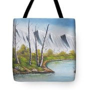 Winter Season - Mountains Tote Bag