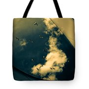 Canvas Seagulls Tote Bag
