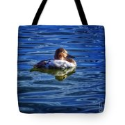 Canvasback And Blue Tote Bag