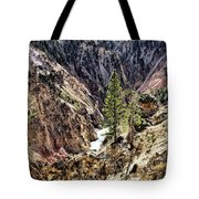 Canyon And Lower Falls Tote Bag