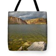 Canyon Lake Stormy Sky Tote Bag