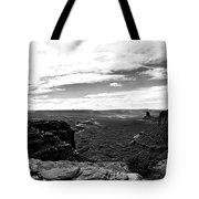 Canyonlands National Park Utah Pan 06 Bw Tote Bag