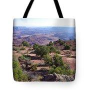 Canyonlands Park Utah Blue To Green Vista Tote Bag