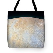 Canyons Around Plutos North Pole Tote Bag