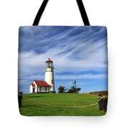 Cape Blanco Lighthouse Above The Rope Tote Bag