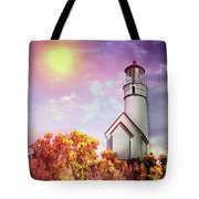 Cape Blanco Lighthouse In Oregon Tote Bag