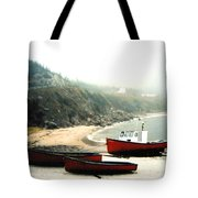 Cape Breton Fishing Boats Tote Bag
